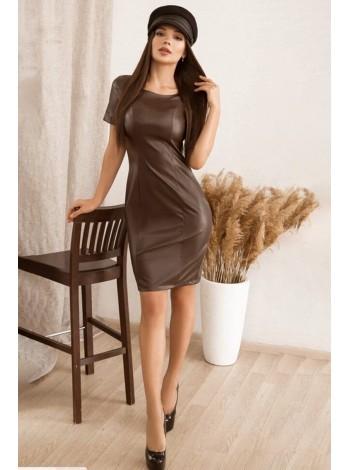 Модное платье из экокожи Старк